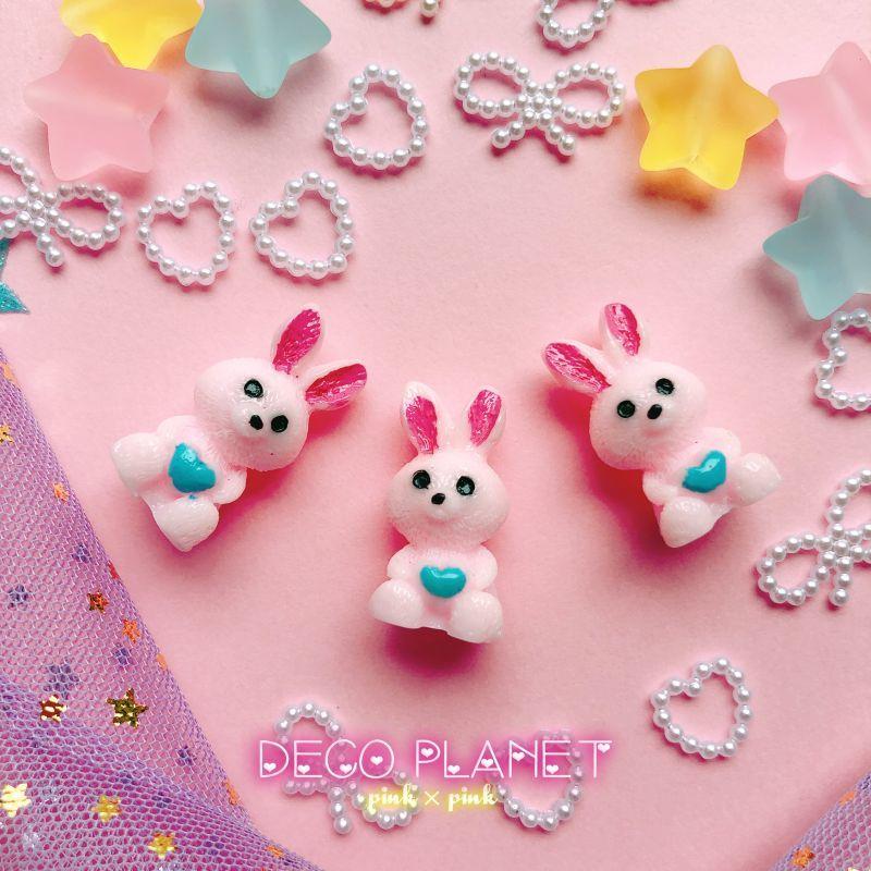 画像1: 立体ウサギ ピンク (1)