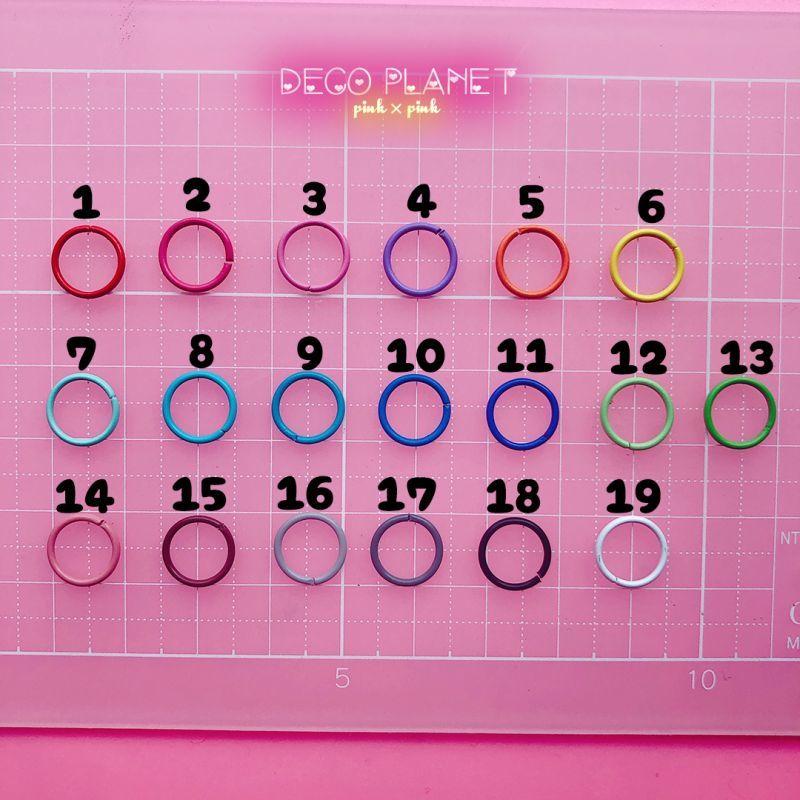 画像1: カラー 丸カン 10mm 10個入り (1)