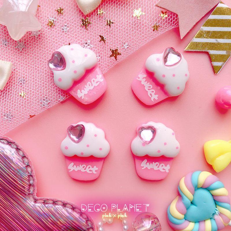画像1: SWEET ハートビジュー付き カップケーキ (1)